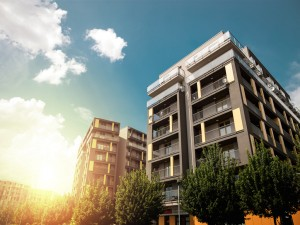 Buildings in sun